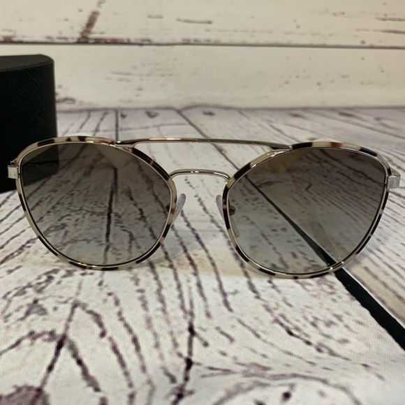 52e60c0c35 PRADA 55mm CAT EYE NAVIGATOR SUNGLASSES